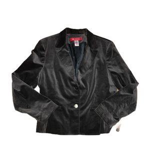 ANNE KLEIN Grey Velour Blazer Size 14